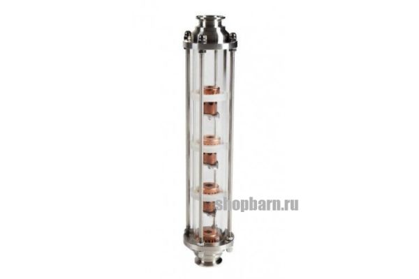 Колпачковая колонна медная с 4 уровнями очистки, кламп 2